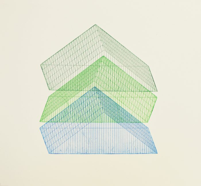 One Two Three BGG (2018) Rachel Duckhouse, Etching, 39cm x 39cm