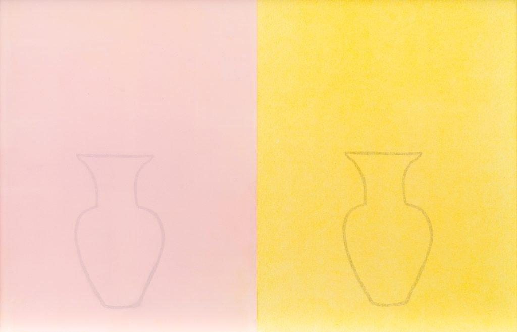 Let's Go (2019) Naomi Frears, Monoprint - diptych., 41 x 59 cm