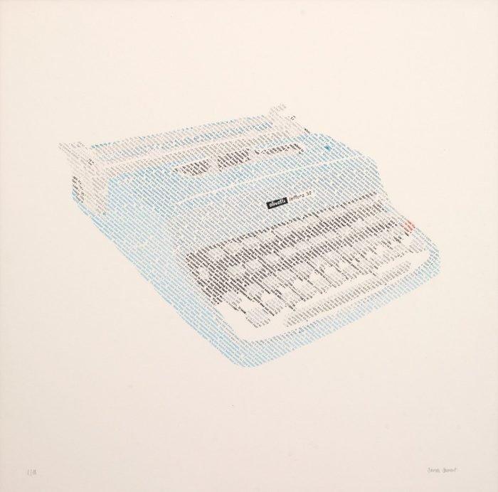 Olivetti Lettera 32, 1963 (2016) Sarah Stewart, Screenprinting, 50 x 50