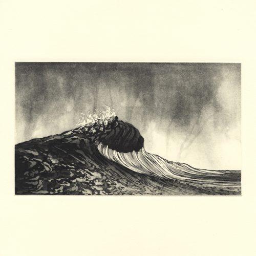 Sublime Peaks II (2019) Susan Clarke, Etching, 30 x 30