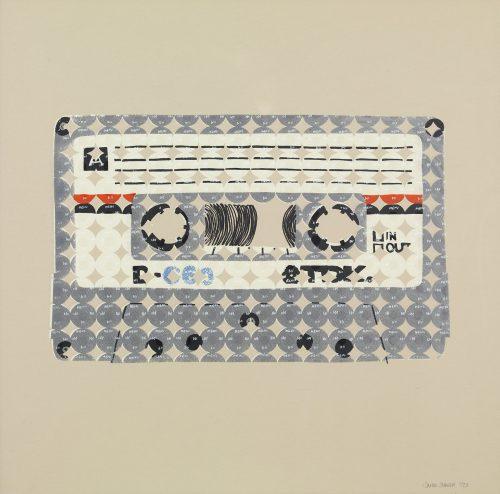 TDK D-C60 Cassette, 1972 (2013) Sarah Stewart, Screenprinting, 50 x 50