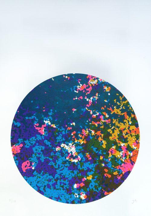 Visual Matter 1 (2018) Jenni Allen, Screenprint, 29.7 x 42cm
