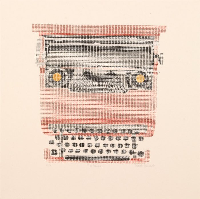 Valentine (2019) Sarah Stewart, Screenprinting, 30 x 30