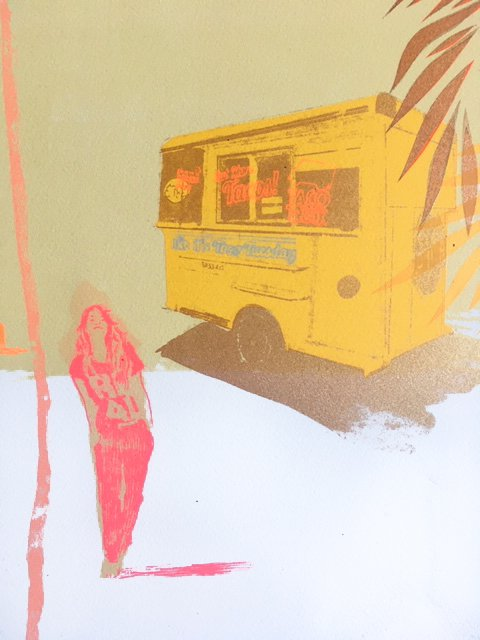 Taco Trucks and Palm Trees - Anna Marrow - Discover Contemporary Art Prints & Printmaking