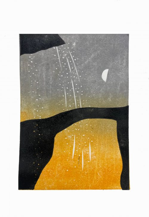 Cave Bridge (orange) - Grace Hailstone - House of Prints