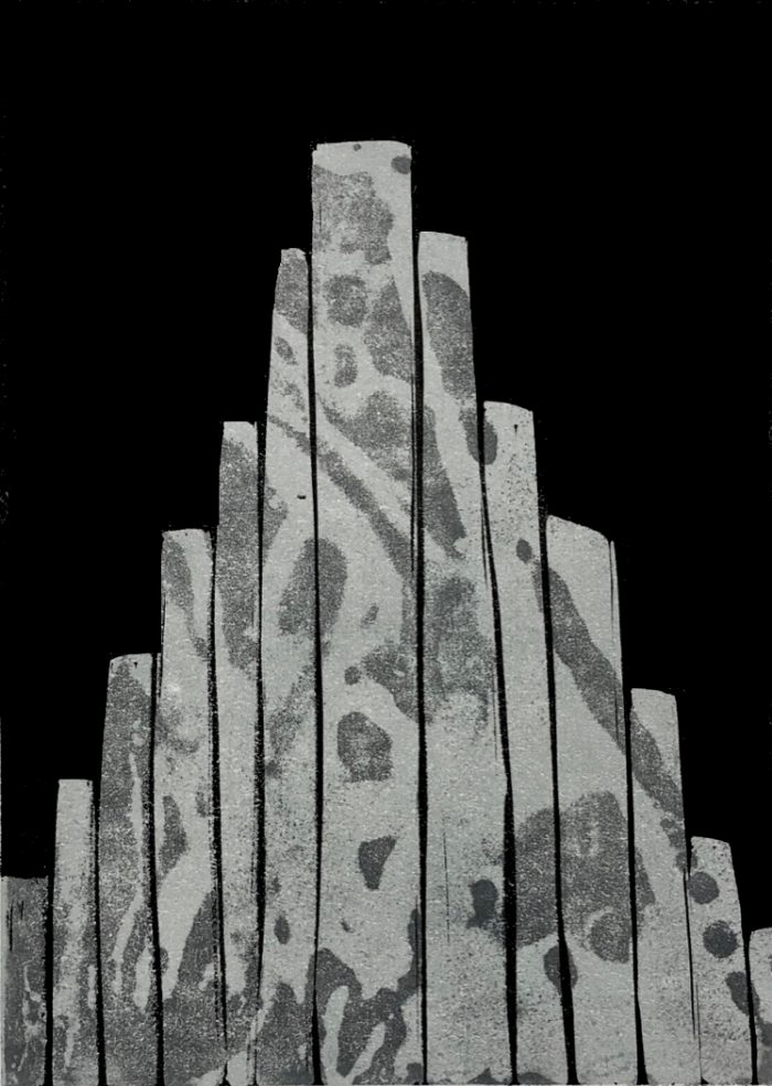 Column Pyramid (Reynisfjara memory) - Grace Hailstone - Discover Contemporary Art Prints & Printmaking