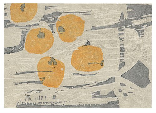 Kaki (2020) Adrian Holmes, Woodblock Print / Relief Print Traditional Japanese printing methods, 21cm x 16cm