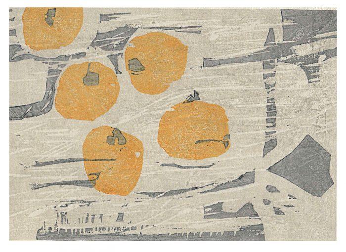 Kaki (2020) Adrian Holmes, Woodblock Print / Relief Print Traditional Japanese printing methods, 21cm x 16cm