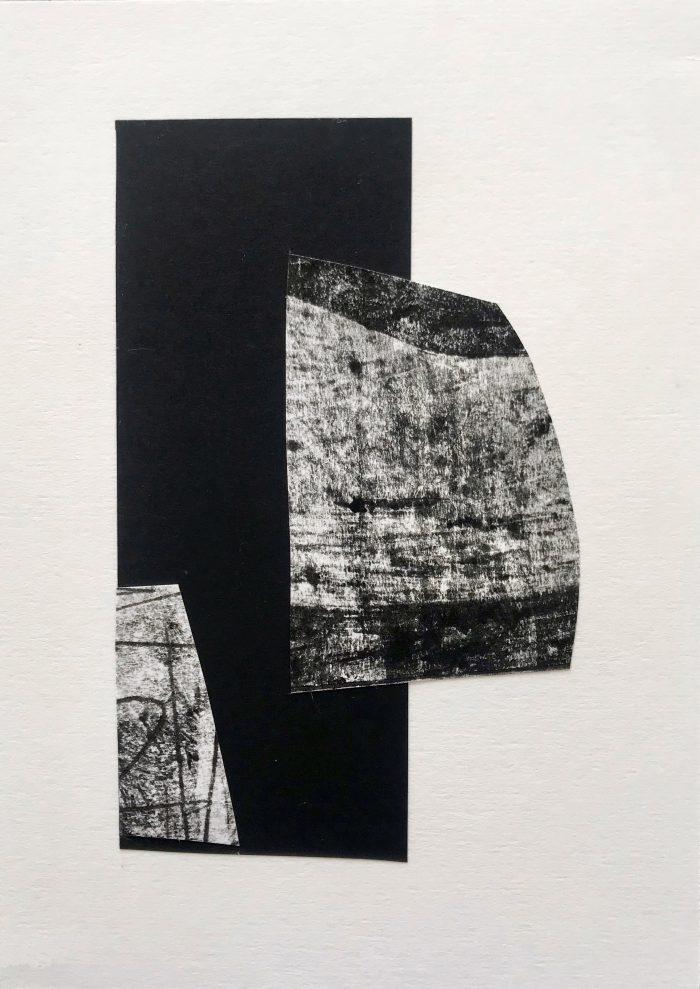 Drift I (2020) Lina Avramidou, Monotype, collage, 15 x 21cm
