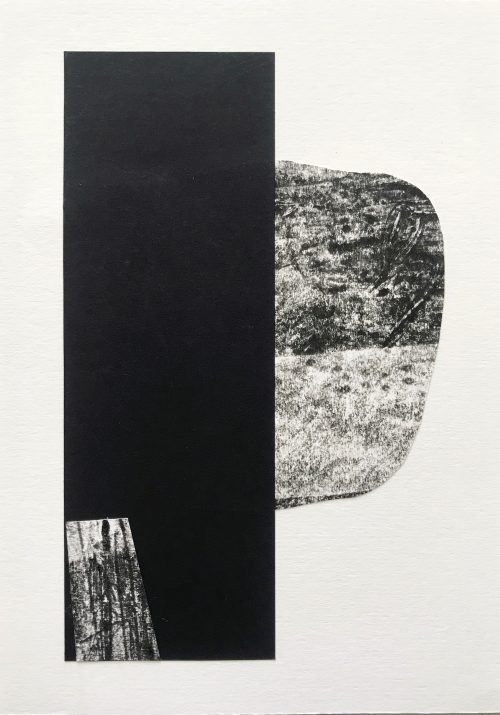 Drift III (2020) Lina Avramidou, Monotype, collage, 15 x 21cm