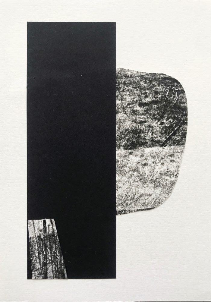 Drift III (2020) Lina Avramidou, Monotype, collage, 15 x 21cm