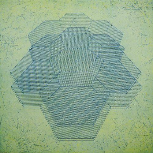 Biocrystals B (2017) Rachel Duckhouse, Etching, 39cm x 39cm