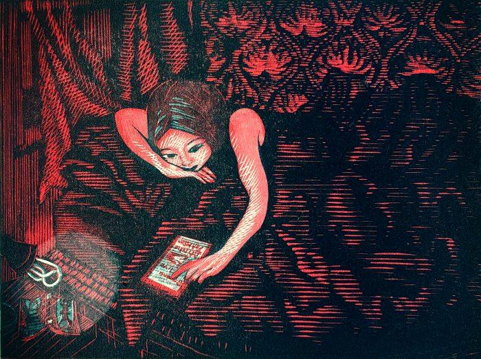 Horror Scroll (2020) Wuon-Gean Ho, Linocut, 24 x 31