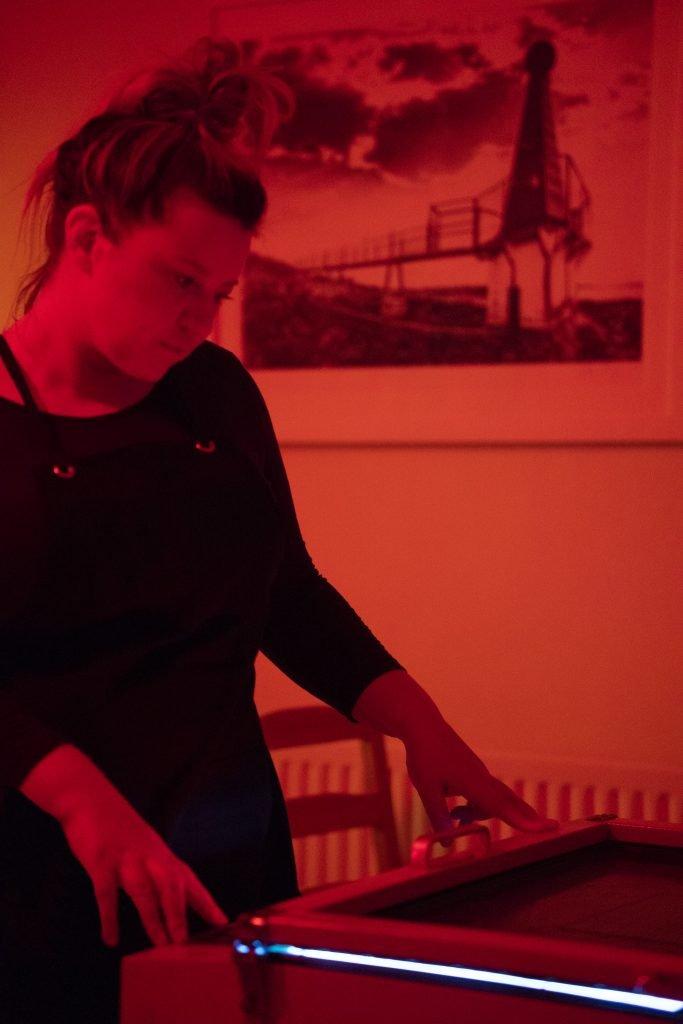 Theadora Ballantyne-Way making prints