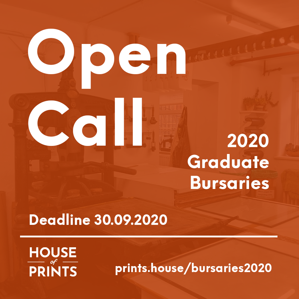 House of Prints 2020 Graduate Bursaries - House of Prints