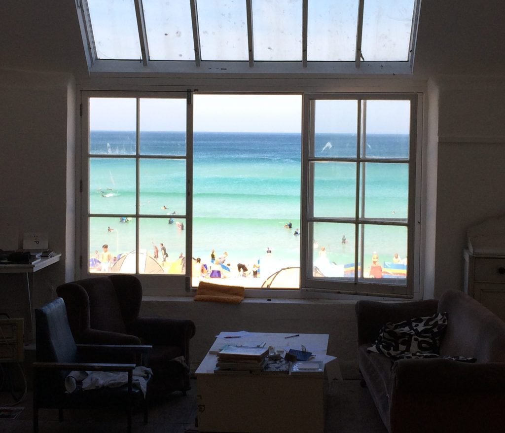 View from Naomi Frears Studio in St Ives, Cornwall