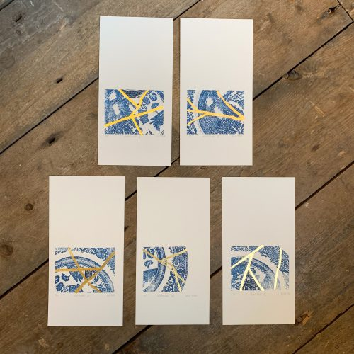 Kintsugi, Screenprint by print artist Sarah Stewart