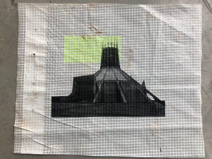 Liverpool Metropolitan Cathedral, Yellow - Adam Garratt - Discover Contemporary Art Prints & Printmaking