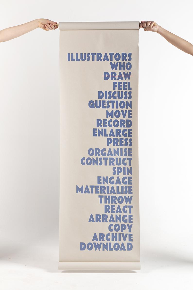 Illustrators_Who_Dont_Draw_55x200cm_ScreenPrint