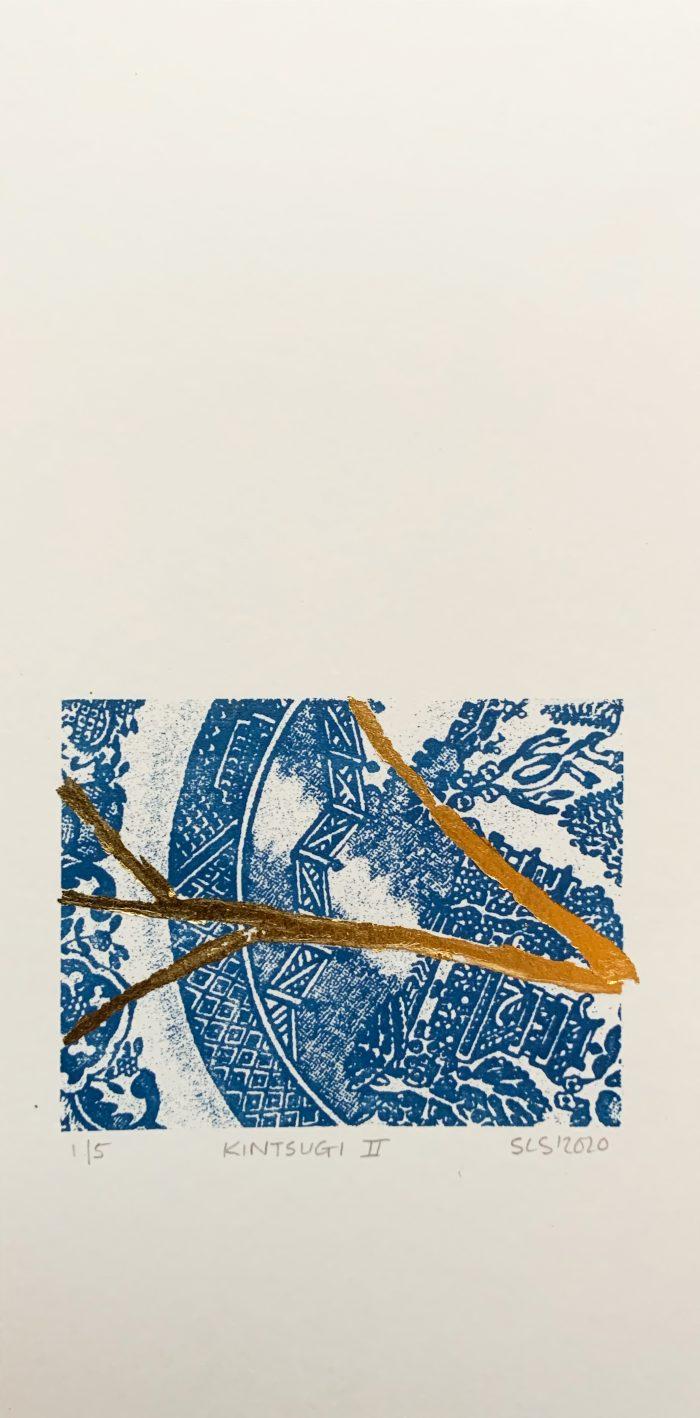 Kintsugi, Screenprint by print artist Sarah Stewart