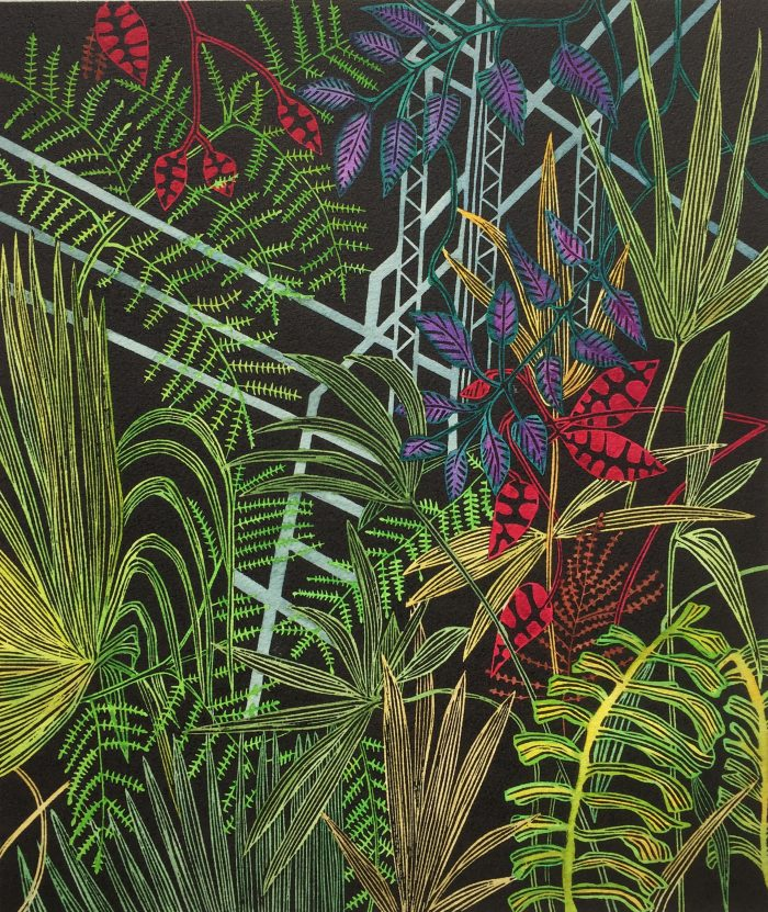 What do we have to lose, Botanical Print by Helen Anne Taylor, linocut printmaker