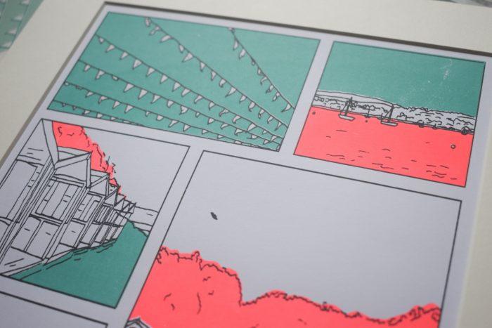 Seaside, Screenprint by print artist Lily Banks