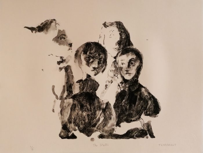 The Stalls - Liorah Tchiprout - Discover Contemporary Art Prints & Printmaking