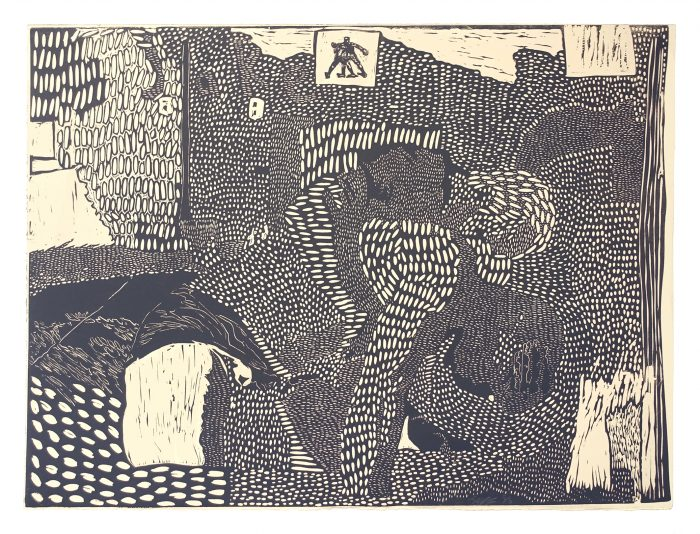 Two Brothers Wrestling - Jake Garfield - Discover Contemporary Art Prints & Printmaking