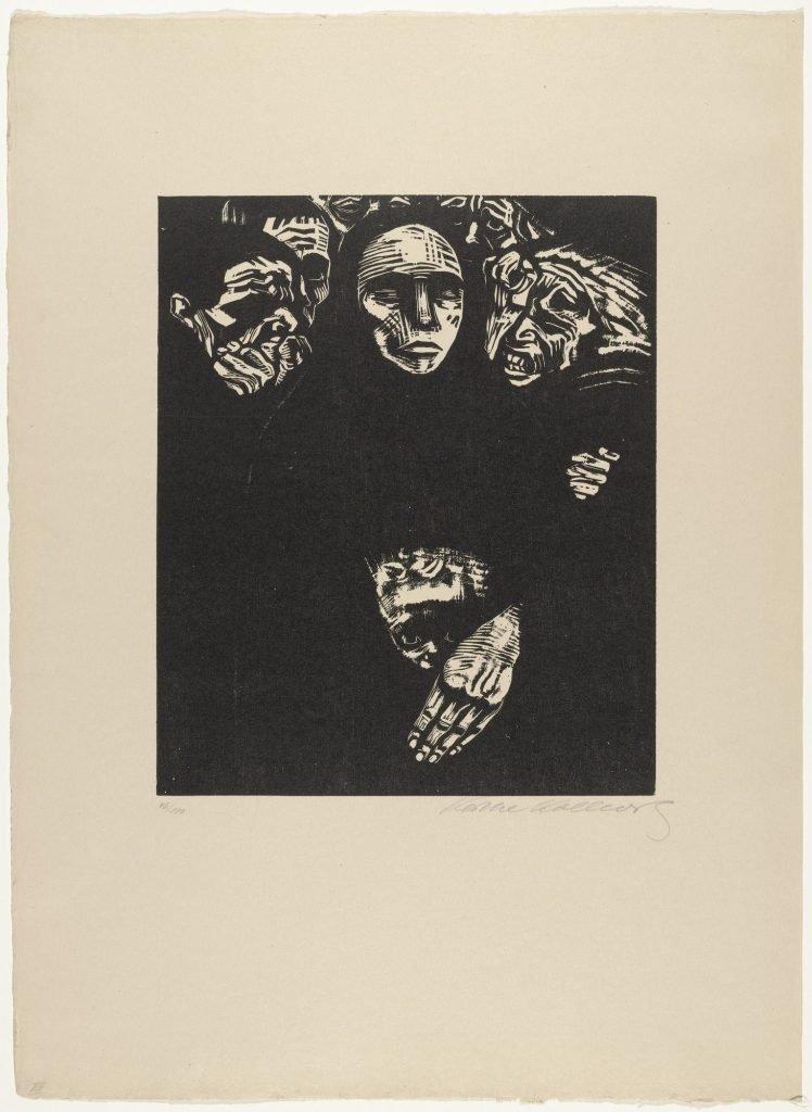 Käthe Kollwitz The People (Das Volk) (plate 7) from War (Krieg)