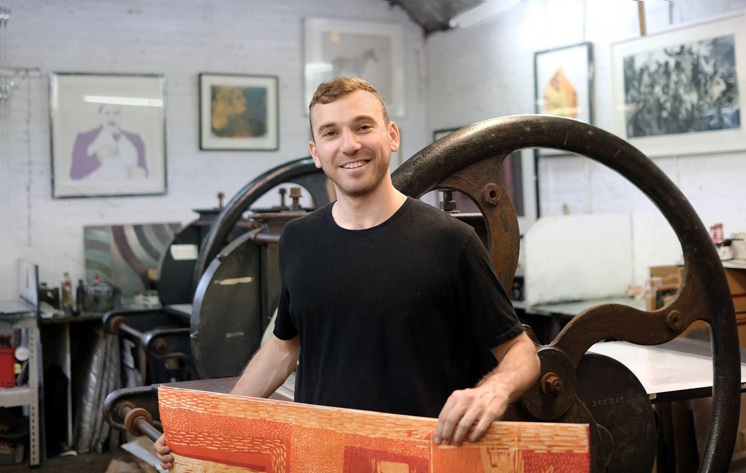Jake Garfield, artist printmaker